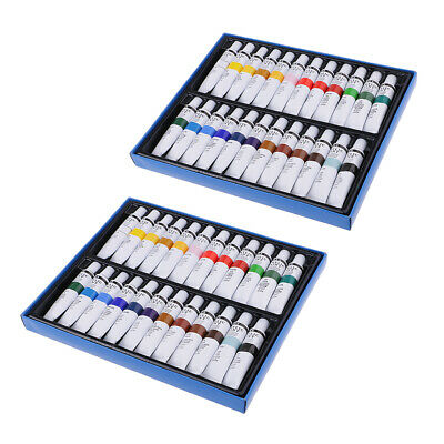 Pack of 2 Artists Acrylic Paint Canvas Ceramic Coloring Pigments Supply