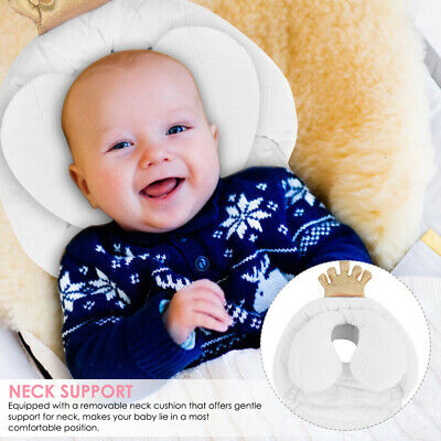 Newborn Baby Crown Seat Stroller Cushion Pad Liner Head Neck Body Support Pillow