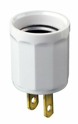 Leviton 61-W 660W 125V Polarized Outlet-to-Lampholder Adapter, White