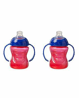 Nuby Easy Sip Super Spout 2 Pack Cups / No Spill Silicone Baby Bottle / BPA FREE