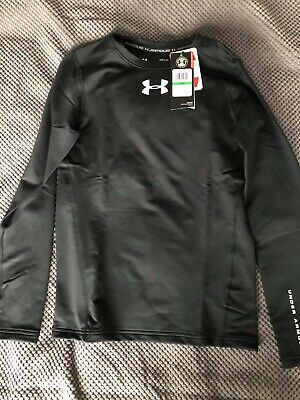 Under Armour UA Boy's Clothing Long Sleeve Top Black Size Large
