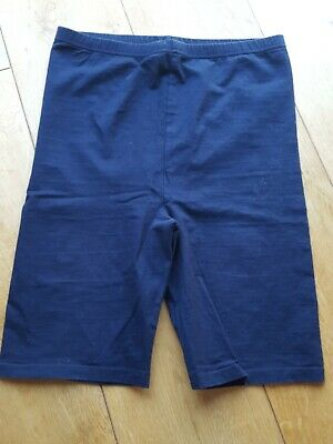 Girls Navy Cycle Shorts Size 24 Inch Waist