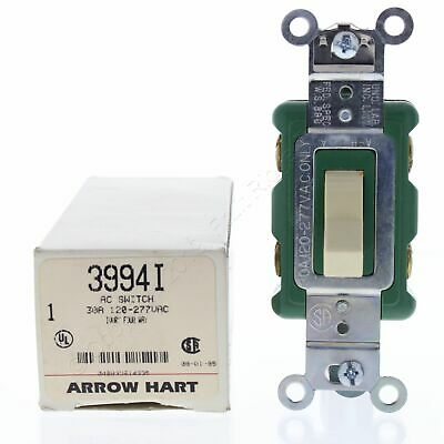 Arrow Hart Ivory INDUSTRIAL Grade 4-Way Quiet Toggle Wall Light Switch 30A 3994I