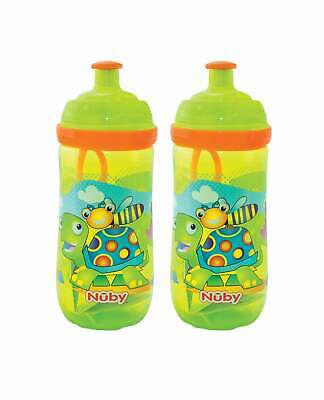 Nuby Pop Up Sipper Toddlers Cups / 2 pack / Kid's Drinking Container / BPA FREE