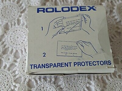 Rolodex Transparent Protectors 250 Cards TP-24 New VTG NOS Clear