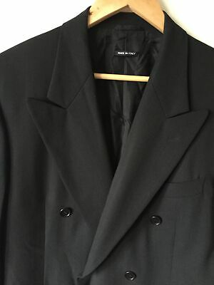 Giorgio Armani Black Label Blazer (38R) Wide Peak Lapels Broken Button