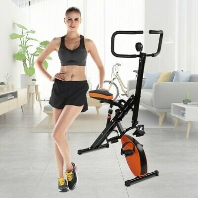 Foldable Magnetic Upright Exercise Bike LCD Stationary Cycling Fitness Indoor