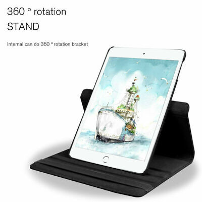 For iPad 10.2 7th Gen Generation 360 Rotating Leather Case Cover Stand