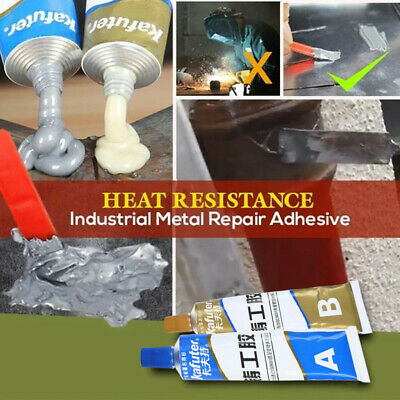 Industrial Heat Resistance Cold Weld Metal Repair Paste A&B Adhesive Gel 100g