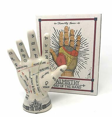 Palmistry Map of the Hand Figurine - Heart Lines Zodiac Signs