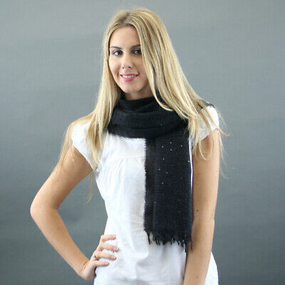 Conte of Florence Wool Scarf Mod. Paillete Black