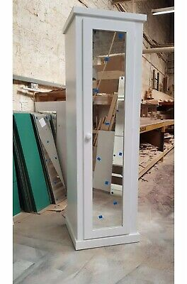 Handmade Ayelsbury Slim Single  Mirrior Door  White Lady  Wardrobe Not Flat!
