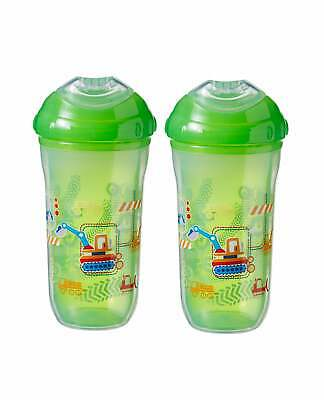 Nuby Kids Bottle Cool No Spill Sipper Spout Toddler Cup / 2 Pack Deal / BPA FREE