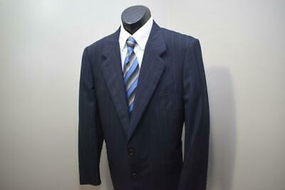 1418 Mens Hickey Freeman Tailored Blue 2 Button Wool Suit Pants 35 x 30 42  R