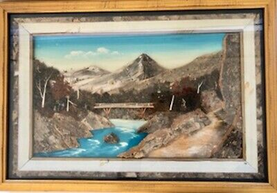 Two Rare Vintage 3D Layered Dioramas-Circa 1940's - Painted on Wood