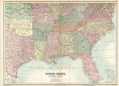 1873 United States. Southern Section. Original map
