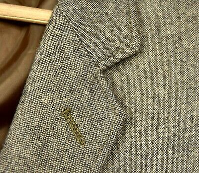 STUNNING J Crew Thompson Brown Fleck TWEED Wool ELBOW PATCHES Sport Coat 44 R