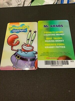 Spongebob Dave & Buster's Coin Pusher Single Card (MR. KRABS)