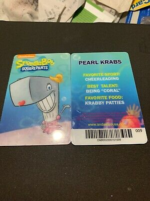 Spongebob Dave & Buster's Coin Pusher Single Card (PEARL)