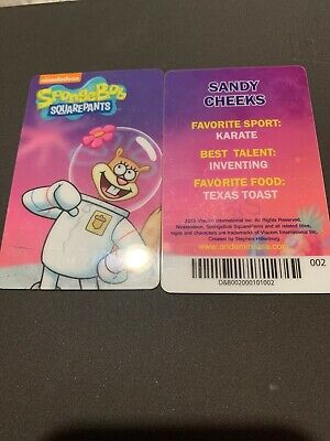 Spongebob Dave & Buster's Coin Pusher Single Card (SANDY)