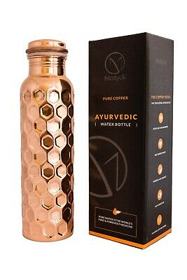 Matyck Pure Copper Yoga & Sports Water Bottle, Large 950ml, Eco Friendly,