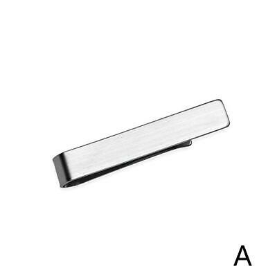 Mens Stainless Steel Tone Luxury Simple Necktie Tie Best Clamp Bar Clasp Cl X7V5