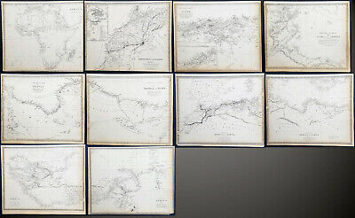 1832 - 1840 SDUK 12 x Antique Maps of Africa, countries & regions