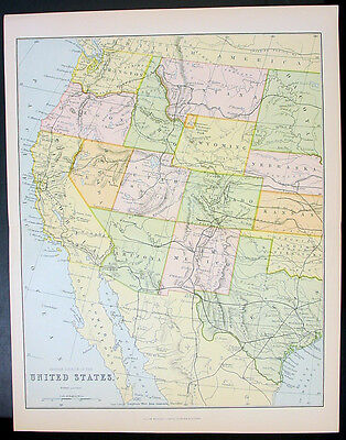 1885 Mackenzie 2 x Sheet Antique Maps of The United States of America