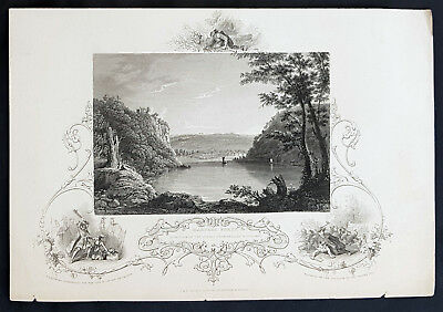 1843 J&F Tallis Antique Print View of Harpers Ferry, Virginia Pocahontas (35204)