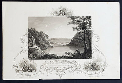 1843 J&F Tallis Antique Print View of Harpers Ferry, Virginia Pocahontas (35206)