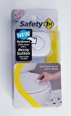 NEW Safety 1st® - Outsmart Toilet Lock Decoy Button One Hand Quick Release