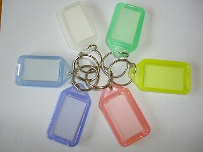 keytags pack of 100pcs in mixed colours
