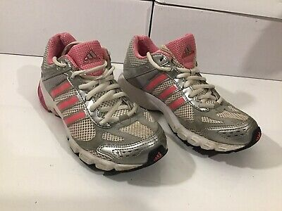 Womens Girls Adidas Adiprene Trainers Size UK 3 Eu 35.5 Grey Pink adiWEAR Soles