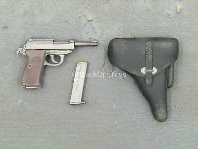 Miniature 1//6th Scale WWII German P38 Pistol /& Holster  #1