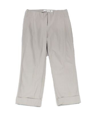 Illusion Women's Pants Gray Size 12X23 Pull-On Capris Cropped Stretch $88 #961