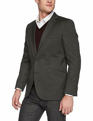 Unlisted by Kenneth Cole Mens Blazer Gray Size 36 Two-Button Notched $295 #230