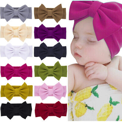 Liverpool Headwrap Knot Bows,Baby Girl Stretchy Headband,Toddler Hair Band