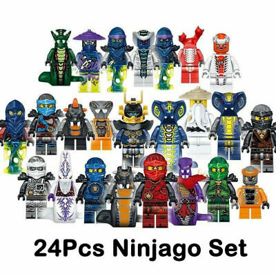 Set of 24 Stk Ninjago Mini Figures Kai Jay Sensei Wu Master Building Blocks Gift