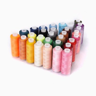 30 Spools Polyester Sewing & Embroidery Machine Thread 250 Yards Each