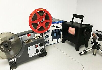 Vivitar UVC1 Sankyo 1000 cine Film Projector Telecine Video Transfer Dual 8, 8MM