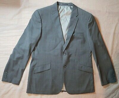FRENCH CONNECTION Men's Wool Blend Blazer Suit Jacket Grey Size 40 R