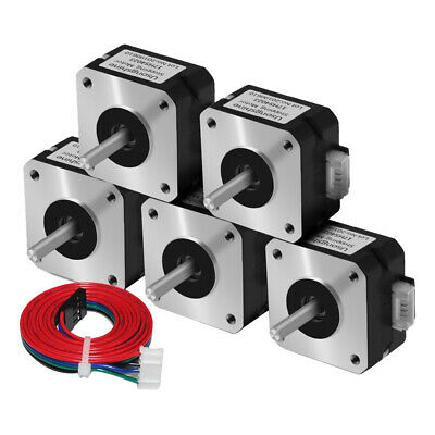 5 Pcs Nema17 0.7A 2Phase Stepper Motor Extruder with Wire 4-lead for 3D Printer