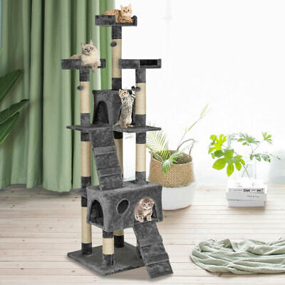"""66"""" Cat Tree Tower Condo Furniture Scratching Post Pet Kitty Play House Toy Bed"""