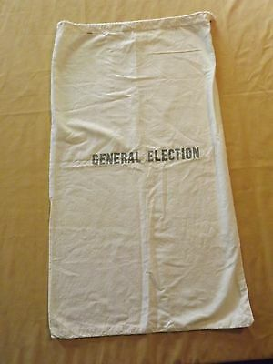 "Vintage Large 32' X 18"" General Election Cloth Sack Bag"