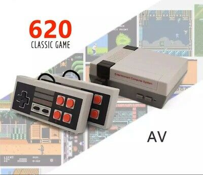 Retro Game Console 620 Built-in MINI Classic NES Games with 2 Controllers HDMI