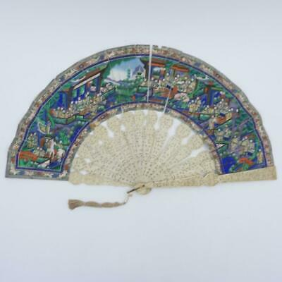 19th CENTURY CHINESE HANDPAINTED PAPER FOR RESTORATION