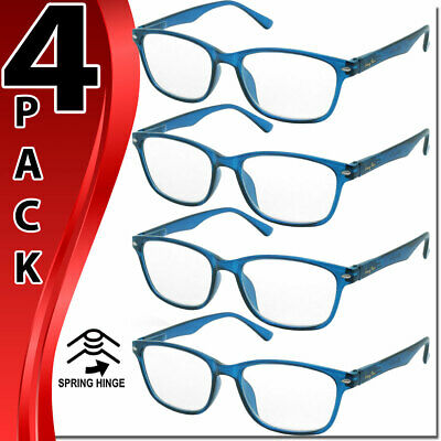 Reading Glasses Spring Hinge For Men Women Readers 4 Pairs High Quality New