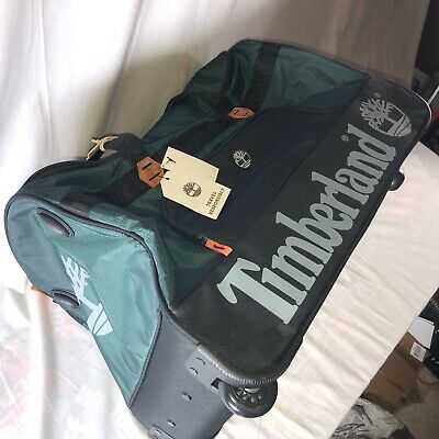 "Timberland Highgate Springs Travel Luggage 26"" Rolling Wheeled Duffle Bag $300"