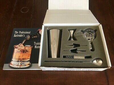 Bartender Training Kit 7 Pcs With The Professional Bartender's Training Manual