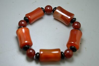 Collection Handwork Decorative Smooth Agate Carve Beauty Bead Woman Use Bracelet